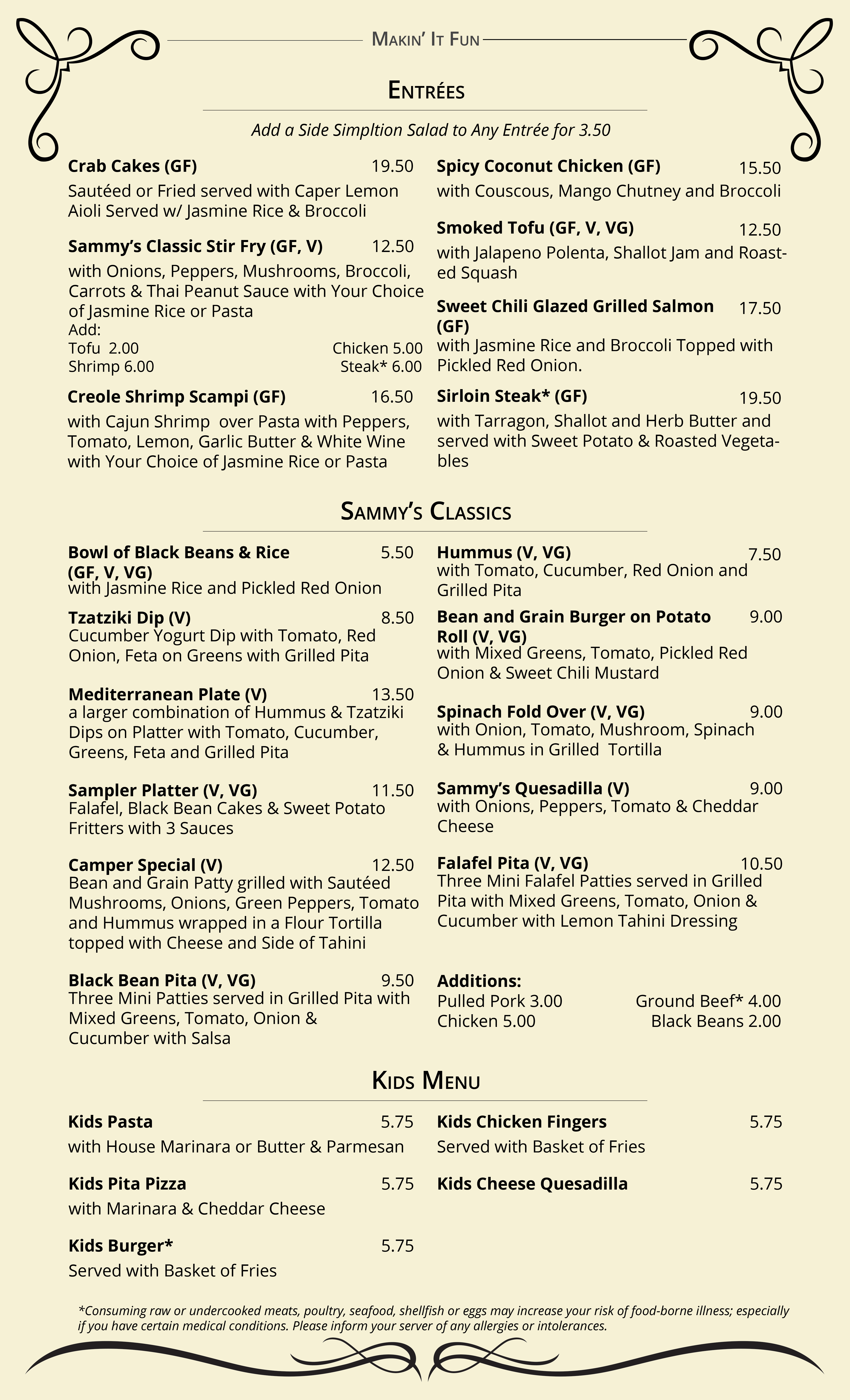 Sammy T's Menu - Revised June 4 2018 - Web - PG 3